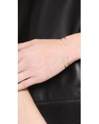 Tai - Metallic Evil Eye Open Bangle Bracelet - Lyst