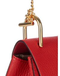 Chloé | Red Drew Small Leather Shoulder Bag | Lyst