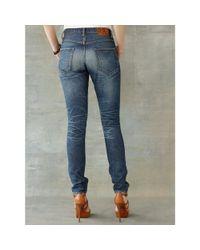 RRL - Blue Stretch Skinny Jean - Lyst