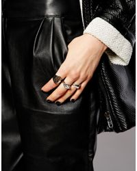 ASOS - Metallic Twilight Ring Pack - Lyst