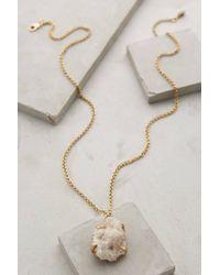 Anthropologie - Metallic Druzy Dreamworld Pendant Necklace - Lyst