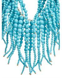 Rosantica By Michela Panero | Blue Anemone Stone-Fringe Necklace | Lyst