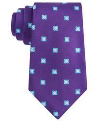 Ike Behar - Purple Twill Ground Neat Tie for Men - Lyst