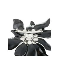 Alexis Bittar | Black Fancy Emerald Crystal Encrusted Articulating Flower Pin | Lyst