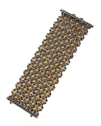 Stephen Webster - Metallic Sterling Silver Flexible Cuff With Gold-plated Details - Lyst
