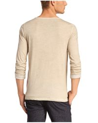 BOSS Orange | Natural Long-sleeve Shirt 'toulson' With A Round Neckline for Men | Lyst