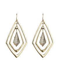 Alexis Bittar | Metallic Kinetic Gold Orbitting Tear Earring | Lyst