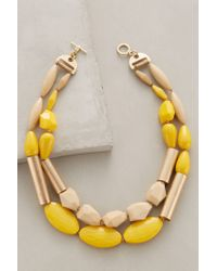 Anthropologie | Yellow Grassland Melange Necklace | Lyst