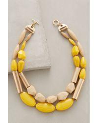 Anthropologie - Yellow Grassland Melange Necklace - Lyst