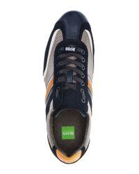 BOSS Green - Black Suede Sneakers 'eldorado Suede' for Men - Lyst