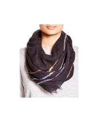Echo - Black Roving Spacedye Wrap Scarf - Lyst