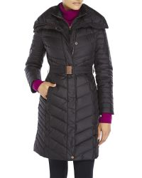 Marc New York | Black Katy Belted Down Coat | Lyst