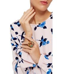 Lydia Courteille - Multicolor One Of A Kind Gardens Of Xochimilco Ring - Lyst