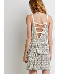 Forever 21 - Natural Floral Ladder-back Dress - Lyst