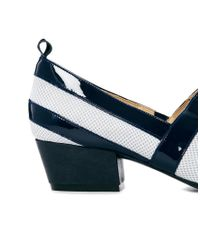 WOOD WOOD - Blue Eleanore Navy Stripe Loafers - Lyst