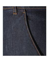 Fendi | Blue Wide-leg Cropped Jeans | Lyst