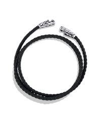David Yurman - Chevron Triplewrap Bracelet in Black - Lyst