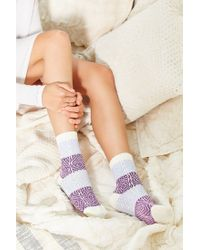 Urban Outfitters - Blue Colorblock Patterned Crew Sock - Lyst