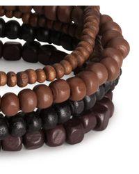 H&M - Brown 6pack Bracelets for Men - Lyst