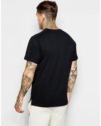 Ellesse - Black Slub T-shirt for Men - Lyst