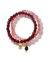Satya Jewelry - Pink Beaded Bracelets - Lyst