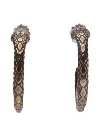 Pamela Love | Metallic Serpent Hoop Earring | Lyst