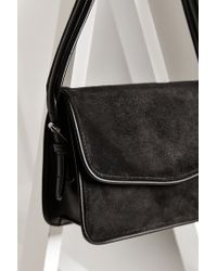 Silence + Noise | Black Suede Shoulder Bag | Lyst