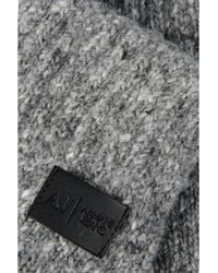 Armani Jeans - Gray Wool Glove for Men - Lyst