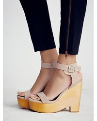 Free People | Natural Jeffrey Campbell Womens Full Swing Platform | Lyst