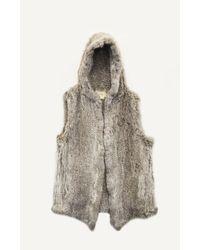 Nicole Miller - Gray Knit Bunny Vest - Lyst