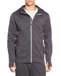 The North Face - Gray 'ampere' Zip Front Fleece Hoodie for Men - Lyst