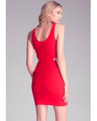 Bebe Cutout Bodycon Tank Dress In Red Lyst