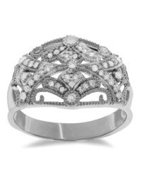 Lord & Taylor | Metallic Diamond And Sterling Silver Ring | Lyst