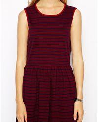 Jack Wills - Striped Textured Dress - Lyst