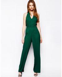 d378663db2 Lyst - Love Halterneck Jumpsuit in Green