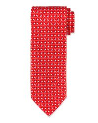 Ferragamo - Red Fish & Wave Print Tie - Lyst
