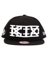 KTZ - Black Embroidered Logo Cap for Men - Lyst