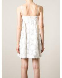Cacharel | White Empire Line Jacquard Dress | Lyst