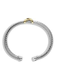 David Yurman | Metallic X Bracelet With Gold | Lyst