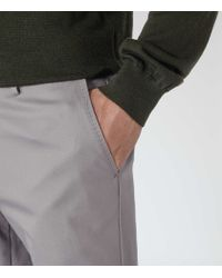 Reiss - Gray Medway Classic Twill Chinos for Men - Lyst