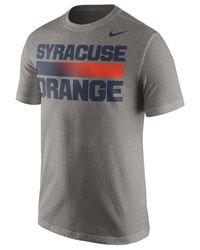 Nike - Gray Men's Syracuse Orange Team Stripe T-shirt for Men - Lyst