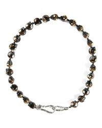 Shebee | Brown Skull Necklace | Lyst