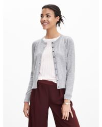 Banana Republic | Gray Merino Wool Anna Cardigan | Lyst