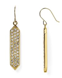 Ralph Lauren | Metallic Lauren Pavé Drop Earrings | Lyst