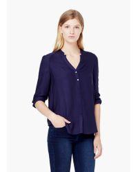 Mango | Blue Flowy Shirt | Lyst