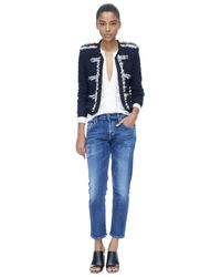 Rebecca Taylor | Blue Lana Tweed Jacket | Lyst