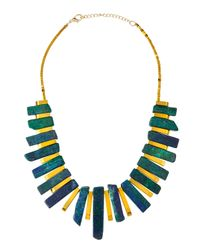 Panacea | Blue Tapered Bar Station Necklace | Lyst