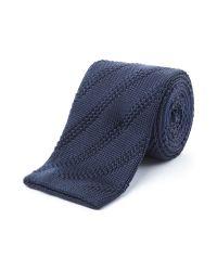 Gibson Blue Diagonal Textured Tie for men
