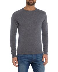 Barbour | Gray Conquest Crew Neck Jumper for Men | Lyst