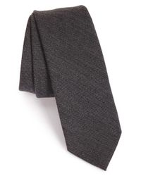 Z Zegna | Gray Stripe Wool & Cotton Tie for Men | Lyst